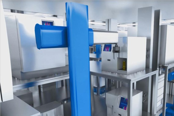 Robots for fully automated QC labs in pharma manufacturing