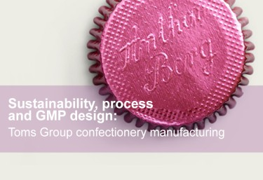Sustainability, process and GMP design in confectionery manufacturing